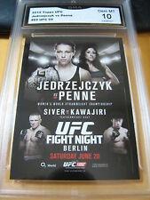 JOANNA JEDRZEJCZYK VS JESSICA PENNE 2015 TOPPS UFC CHRONICLES FIGHT GRADED 10