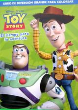 TOY STORY 96 Page Kids Jumbo SPANISH Boys Colouring & Activity Book NEW
