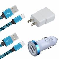 4in1 Car Home Wall Charger USB-C Cable for Google Pixel 2 XL Moto Z2 Play Force