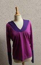 Roxy Hoodie Athletic Pullover Purple Mesh Sz M