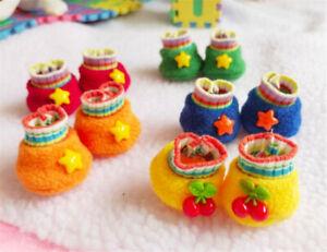 Doll Shoes For 20CM Doll Accessory Polar Fleece Shoes Color Shoes A Pair Props N