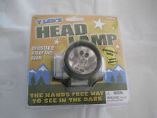 Schylling 7 LED Lightweight Compact Hands Free HEAD LAMP Adjustable Strap & Beam