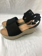 Dolce Vita Black Linen Lesly Wedges- Size 9
