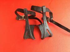 Vintage Christophe Pedalhacken toe clips und Riemen straps