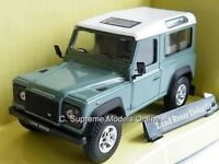 LAND ROVER DEFENDER 4X4 MODEL CAR 1:43 SIZE SWB LIGHT GREEN CARARAMA 90 K8Q