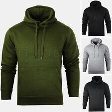 Mens Pullover Hoodie Hooded Sweatshirt Fleece Top Plain Hoody Jumper S - 5XL
