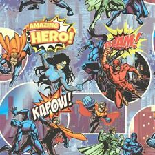 Wallpaper Muriva - Superheroes Comic Book Cartoon - Kids / Children Room -L31501