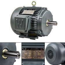3 Hp 3 Phase Electric Motor 1800 Rpm 182t Frame Tefc 230460v Premium Efficiency