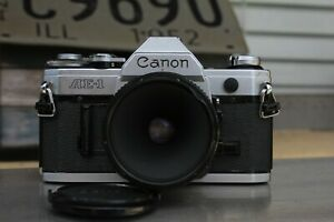 Canon AE-1 35mm SLR Film Camera with Canon FD 50mm Lens