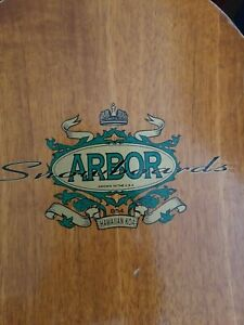 arbor snowboard Wood with black technine bindings good used condition 152cm