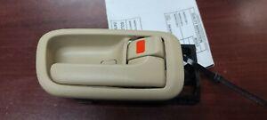 99 00 FITS LEXUS RX300 REAR RIGHT INTERIOR DOOR HANDLE TAN OEM