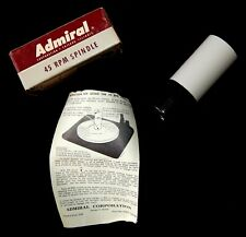 VINTAGE 1950'S ADMIRAL 45 RPM SPINDLE NEVER USED! MINT CONDITION-MODEL 45SP