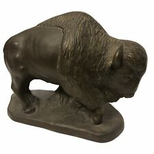 BUFFALO brown Bison Standing On The Plains Statue Resin