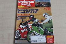 164722) Kawasaki ZXR 750 vs Suzuki GSX-R 750 - Motorrad Reisen Sport 04/1989