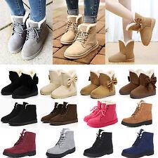Damen Schneestiefel Stiefel Gefütterte Fleece Winter Stiefeletten Boots Schuhe
