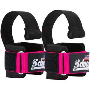 Schiek Sports Model 1000-DLS Deluxe Dowel Lifting Straps - Pink