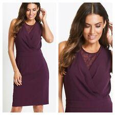 Bonprix @ Curvissa Size 12 Berry Lace Trim DRESS Evening Party Flattering £50