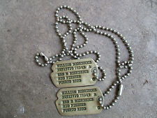 WWII Puerto Rico US Army Rodriguez NOK Next of Kin Dog Tags