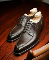 Handmade Leather split toe Derby Brown shoes for men cowHide leather shoes