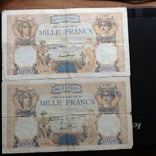 2 billets de 1000 francs (CERES et Mercure)