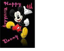 MICKY MOUSE Disney Birthday card Personalised A5