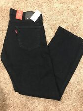 NWT Levis 505 Mens Jeans Regular Fit WStretch Straight Leg 33X32 505-1432 Navy