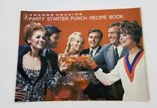 Vintage 1973 Anchor Hocking Party Starter Punch Cocktails Recipes Booklet Drinks