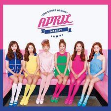 APRIL [MAYDAY] 2nd Single Album CD+48p Photobook+2p Photocard K-POP SEALED