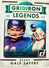 2015 GALE SAYERS 🔥GRIDIRON LEGENDS🔥 (((#/729))) Donruss #295 - Bears ((HOF))