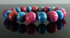 Pink Blue Crazy Lace Agate Bracelet