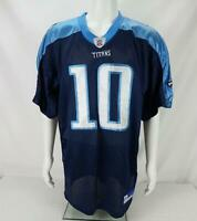 Reebok On Field Vince Young #10  Tennessee Titans Football Jersey Blue Size 48