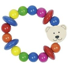 HEIMESS WOODEN Touch Ring BEAR Baby Toy Teether Wood Rattle 763220