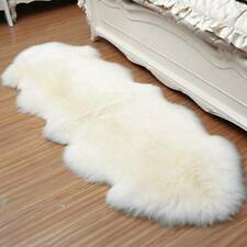 S-XL Fluffy Rugs Anti-Skid Shaggy Soft Rug Dining Room Carpet Floor Mats Home US