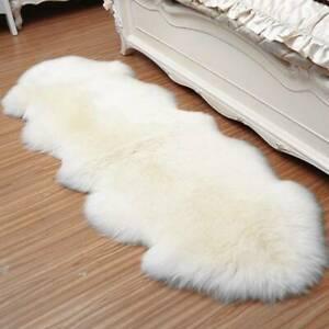 S-XL Fluffy Rugs Anti-Skid Shaggy Soft Rug Dining Room Carpet Floor Mats Home US