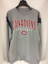 Montreal Canadiens MEN'S Tshirt Grey Long Sleeve GIII Sample Large NWOT