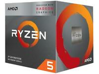 AMD RYZEN 5 3400G 4-Core 3.7 GHz (4.2 GHz Max Boost) Socket AM4 65W YD3400C5FHBO