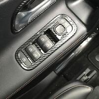 Carbon Look innen Fensterschalter Überzug Chrom Panel für Mercedes A Klasse W177
