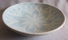 Individual Pasta Bowl Vietri China Viva Lace Aqua Pattern - New