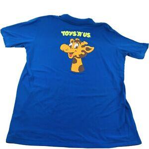 Rare VTG XL 80's 90's TOYS R US Employee Polo Shirt Toy Store Geoffrey Giraffe