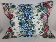 One Blue Rose White Standard Pillow Sham Floral Country Cottage Shabby Chic