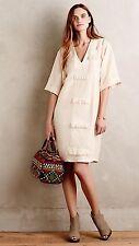 NEW $396 Anthropologie Pepin Louise Dress Size 4 Ivory Silk