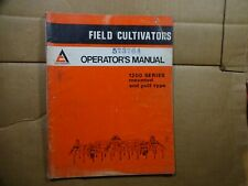 Allis Chalmers 1200 Field Cultivator Mounted Pull Type Operators Manual 473