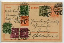 GERMANY--Postal Card from Inflation Period additional Franking
