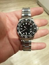 Mens Submariner gmt 11 Homage Watch master automatic STERILE DIAL, ceramic bezel