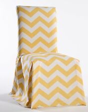 chevron dining chair cover yellow SET OF 2