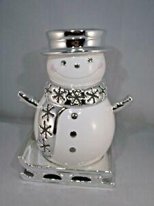Slatkin Snowman Snow Day Luminary Bath & Body Works