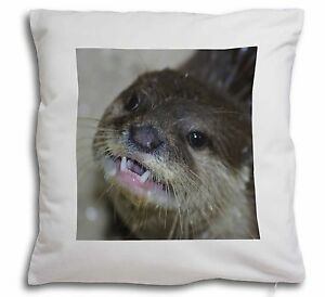 Cheeky Otters Face Soft Velvet Feel Cushion Cover With Inner Pillow, AO-1-CPW