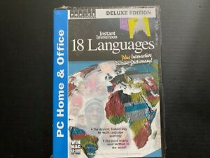 Instant Immersion 18 Languages Deluxe Edition (CD-ROM, 2003, 3 Discs) New Sealed