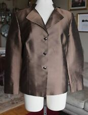 New sz 14 AKRIS silk coat jacket top dress suit, $3295