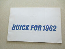 Original 1962 Buick LeSabre Invicta Electra & Special cars advertising booklet